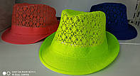 Шляпа челентанка женская гипюр
