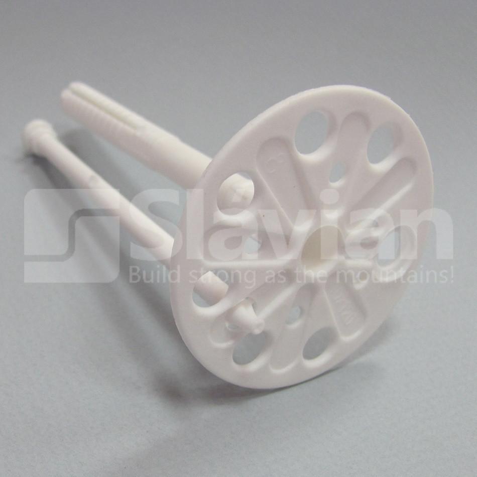 Дюбель крепления теплоизоляции 10х100мм, пластиковый гвоздь (Премиум)