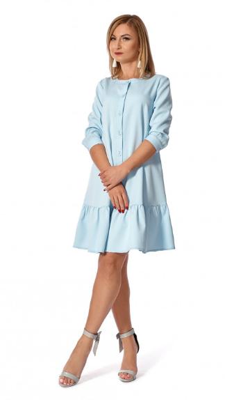 """Платье """"Дориана"""" голубого цвет размеры 42,44,46,48,50"""