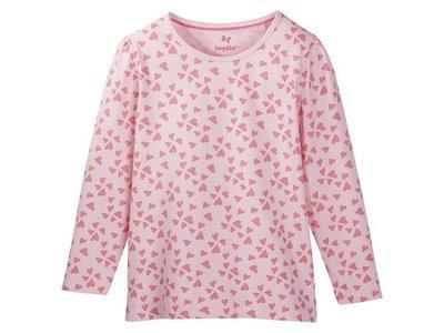 Реглан для девочки розовый сердечка Lupilu р.86/92, 110/116см.