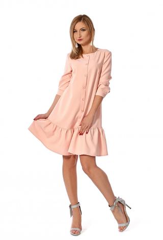 """Платье """"Дориана"""" розовый цвет размеры 42,44,46,48,50, фото 2"""