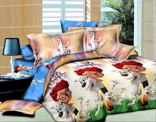 Полуторный комплект постельного белья 145х215 из ранфорса Мистер Шерман и Пибоди (1.0) (70х70)