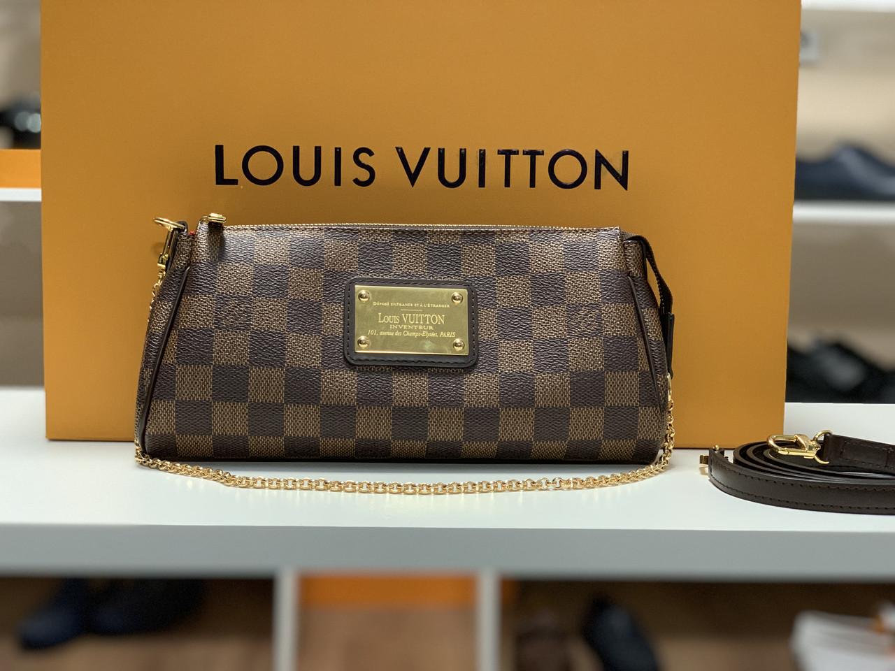 624476393fae Женский клатч Louis Vuitton Eva Канва Damier Ebene, цена 5 400 грн ...