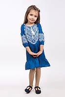 """Вышитое платье для девочки """"Твори мир"""", фото 1"""