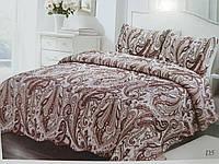 Стеганное велюровое покрывало на кровать Евро размер с двумя наволочками