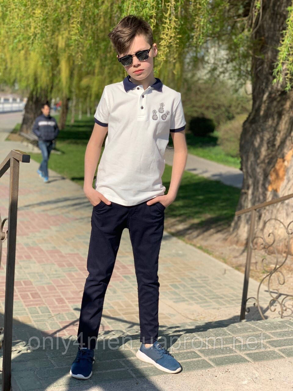 Футболка - поло для мальчика 7-14лет