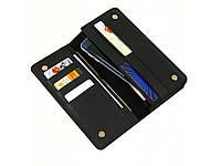 Мужской кошелек клатч GS кожаный черный
