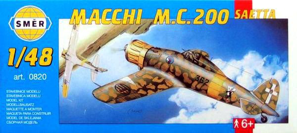 Сборная модель самолета Macchi M.C. 200 Saetta. 1/48 SMER 0820