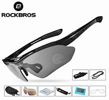 Велосипедные очки ROCKBROS 10003 поляризационные с 6 линзами и диоптриями