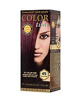 Краска для волос №45 вишня, 100 мл, Color Time Роза Импекс