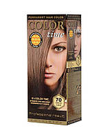 Краска для волос №70 темный пепельно-русый, 100 мл, Color Time Роза Импекс