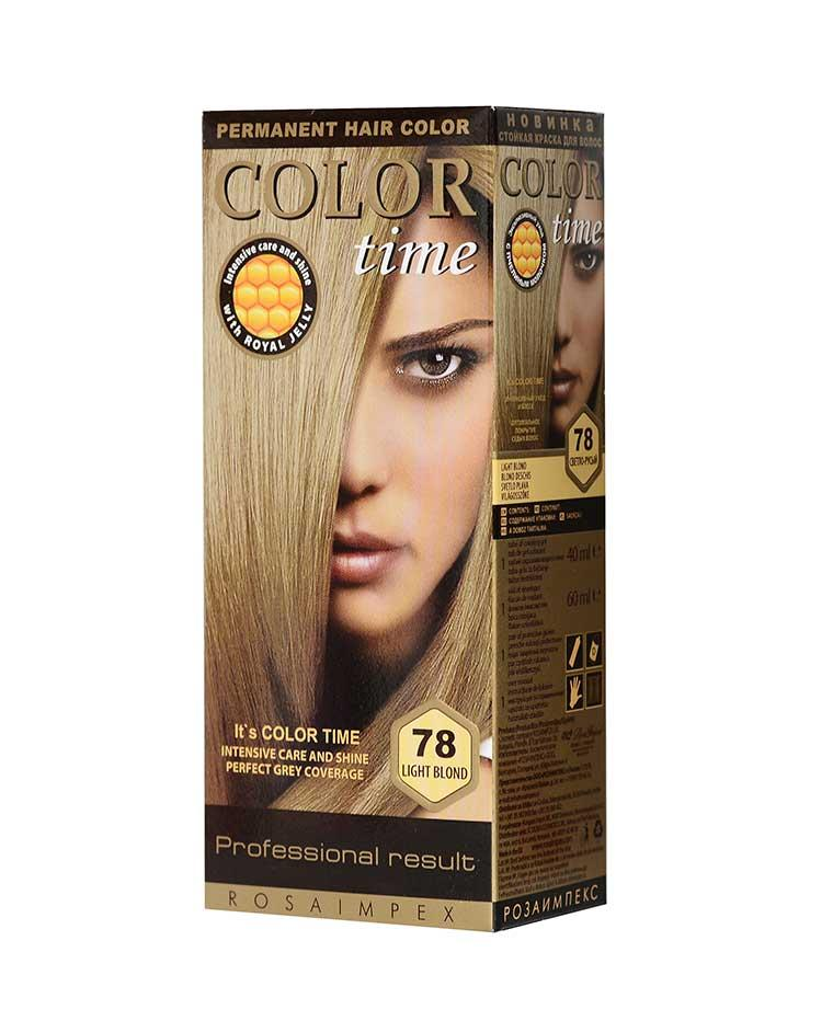 Краска для волос №78 светло-русый, 100 мл, Color Time Роза Импекс