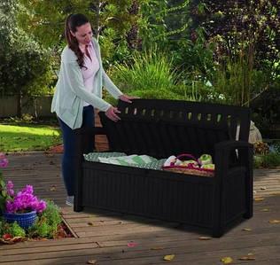 Скамейка садовая со встроенным ящиком для хранения Patio Bench 227 л