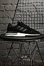 Мужские кроссовки Adidas ZX 500 RM boost black/White, фото 2