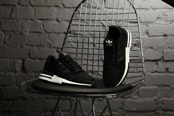 Мужские кроссовки Adidas ZX 500 RM boost black/White