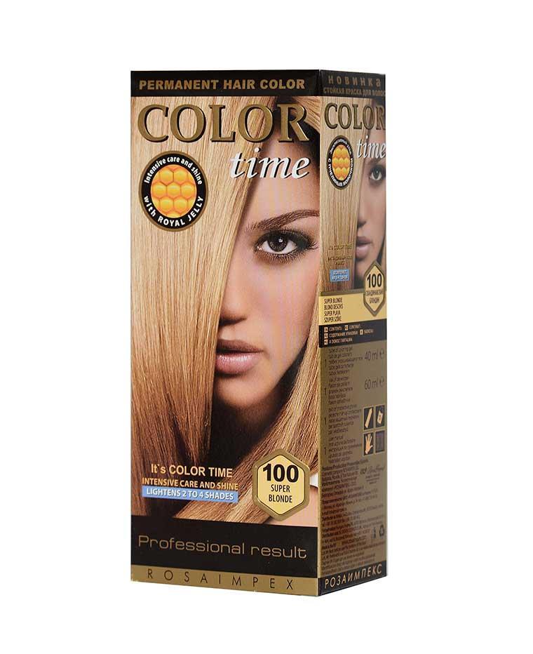 Краска для волос №100 скандинавский, 100 мл, Color Time Роза Импекс