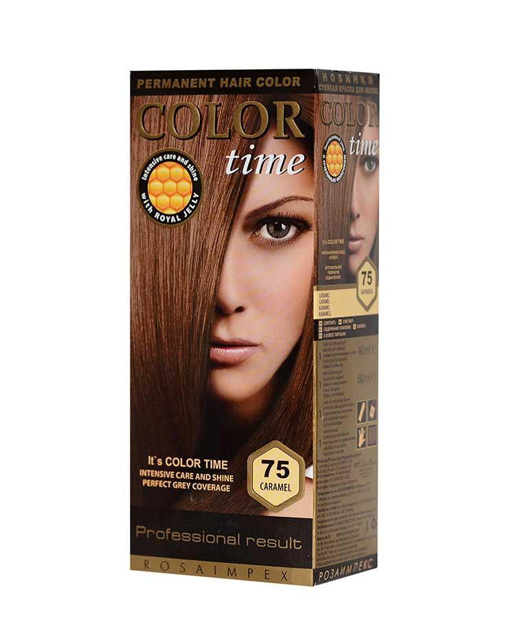 Краска для волос №75 карамель, 100 мл, Color Time Роза Импекс