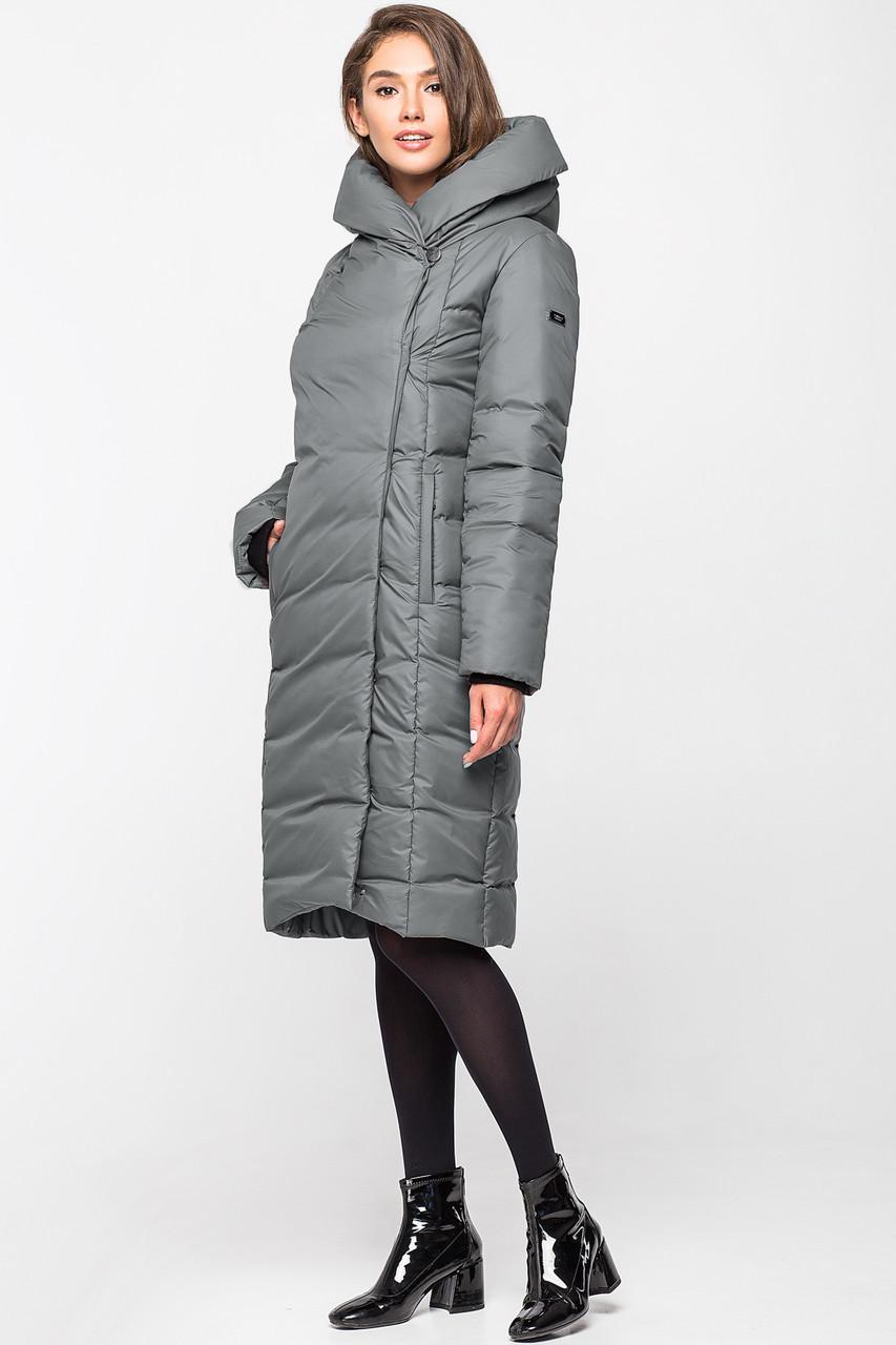 Теплая зимняя женская курточка KTL-223 - маренго (#639)
