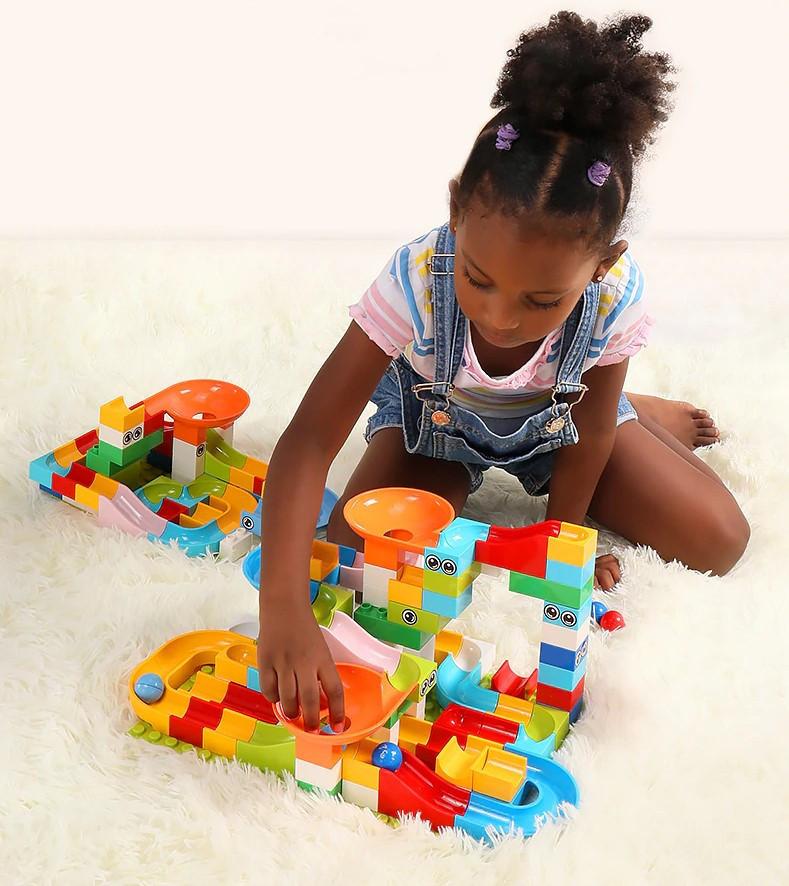 Развивающий конструктор Трек Лабиринт Tumama 156 детали Совместим с LEGO