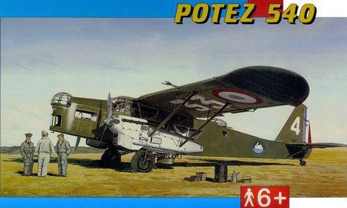 Модель винтомоторного военного самолета Potez 540. 1/72 SMER 0846, фото 2