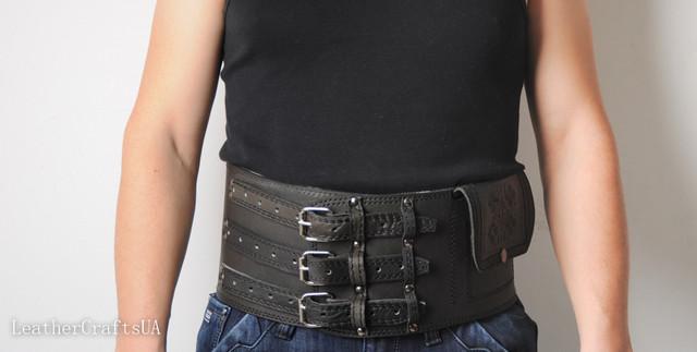 Широкие кожаные пояса для спины (черес)
