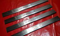 Хром накладки на пороги для Citroen Berlingo 2, Ситроен Берлинго 2