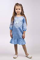 """Вышитое платье для девочки """"Твор мир"""", фото 1"""