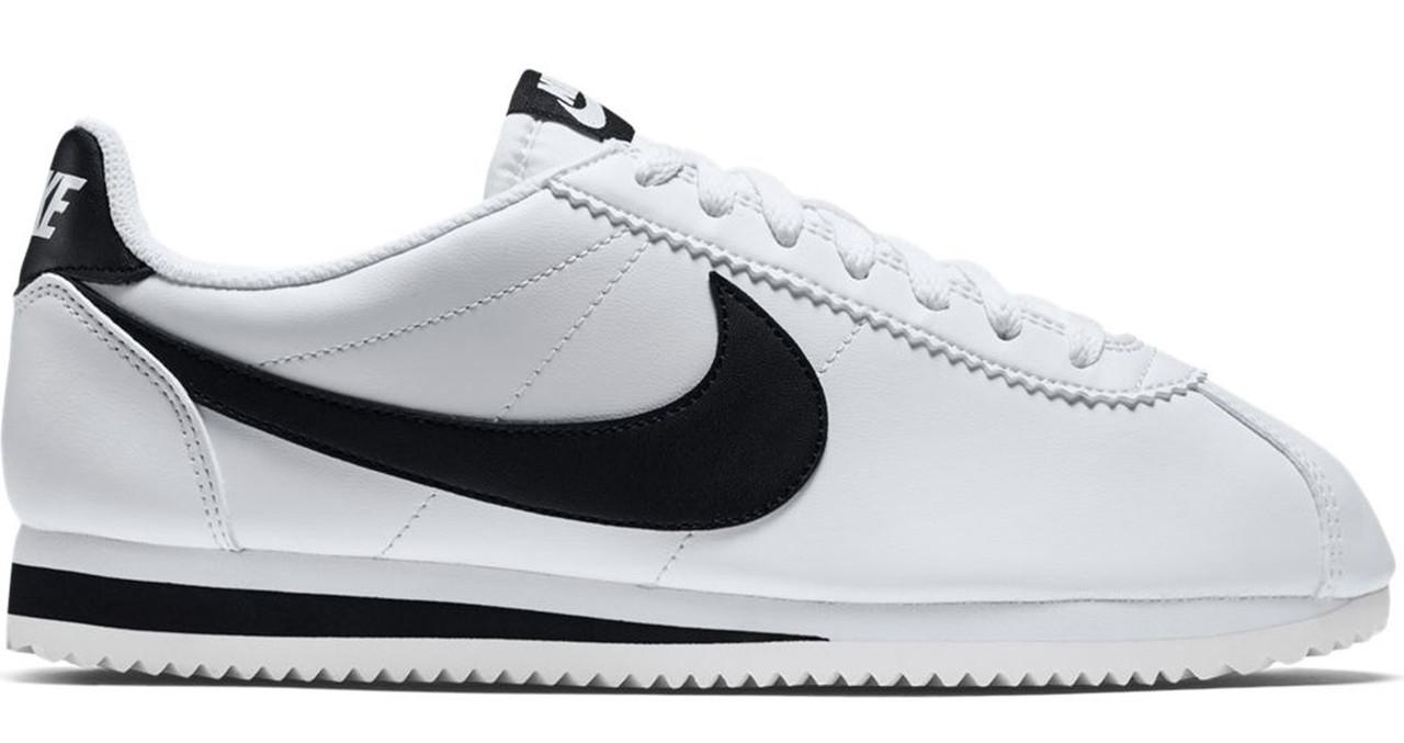 d2fbf593 Мужские кроссовки Nike Cortez White Black (найк кортез, белые / черные)