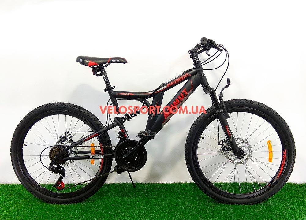 Горный велосипед Azimut Blackmount 26 D+ черно-красный