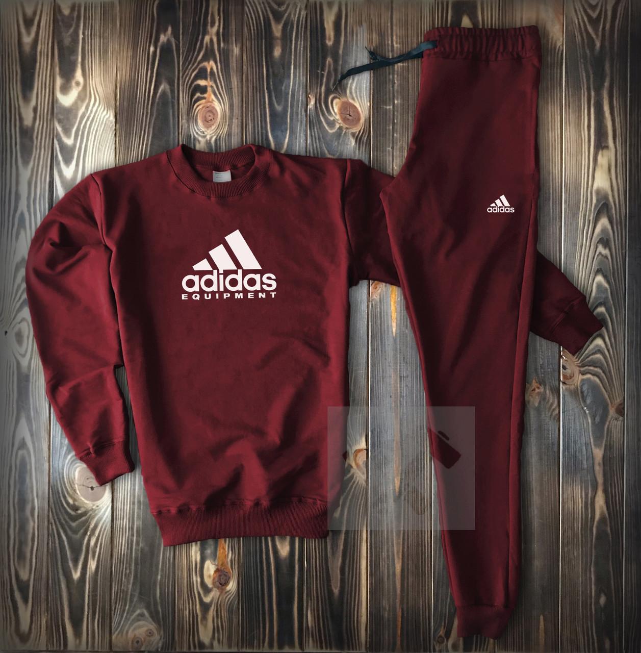 ac586a45ed2 Темный мужской спортивный костюм Adidas бордового цвета купить в Киеве |  Im-PoLLi - 499300713