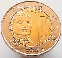 Филиппины 10 писо 2013 - 150 лет со дня рождения Андреса Бонифасио