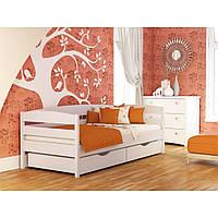 Кровать буковая деревянная Нота + (Нота плюс) цвет белый 107 с ящиками, размер 90*200, Эстелла, магазин МК