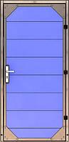 Двері з нержавіючої сталі і ПВХ-панелей