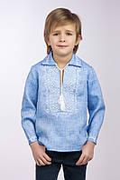 Вышиванка для мальчика с воротом, фото 1