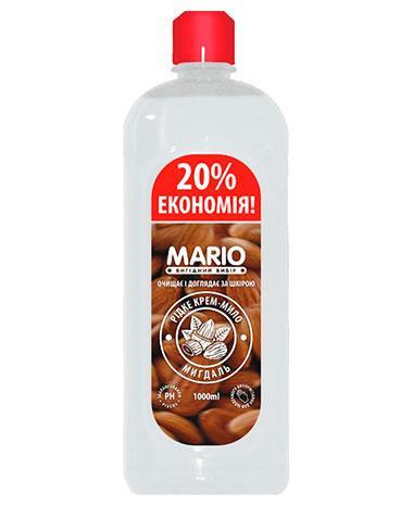Жидкое крем – мыло Миндаль, 1 л, Mario Almond