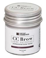 Хна для бровей CC Brow в баночке (темно-коричневый) 10 грамм