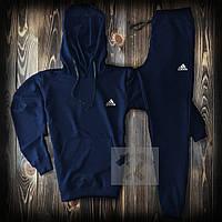 Весенний спортивный костюм Adidas темно-синего цвета