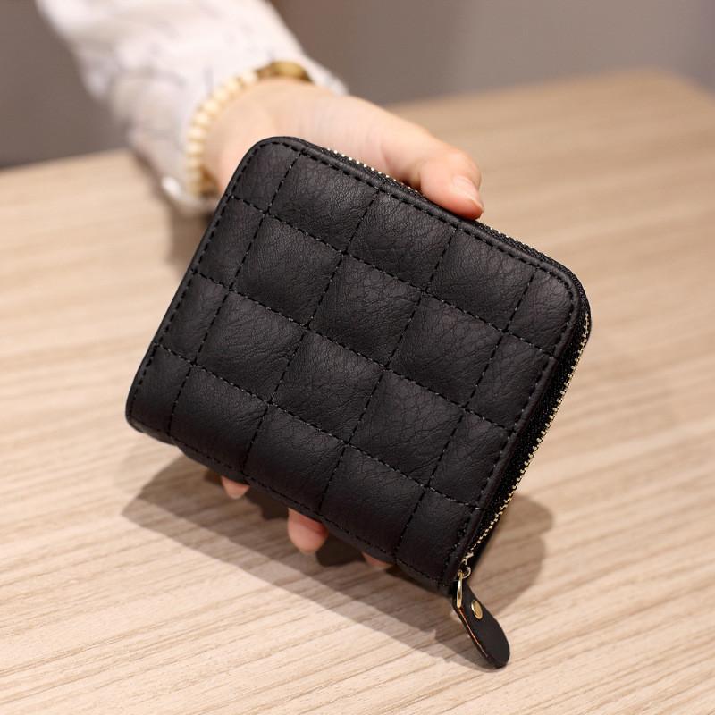 Женский дизайнерский кошелек из экокожи, на молнии