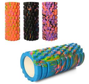 Массажер MS 0857-1 рулон для йоги, EVA, 4 цвета мультицвет