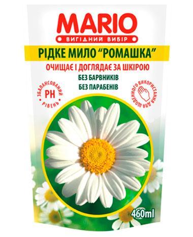 Жидкое крем – мыло «Ромашка» дой-пак, 460 мл, Mario Chamomile
