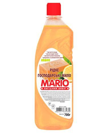Жидкое хозяйственное мыло «Лимон», 700 мл, Mario Марио