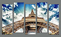 Модульная картина Эйфелева Башня-4 55х102 см (HAB-163)
