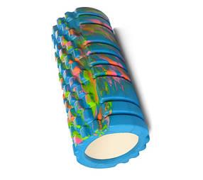 Масажер MS 0857-1 рулон для йоги, EVA, 4 кольори мультиколір Синій