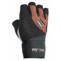 Перчатки для тяжелой атлетики Power System S2 Pro FP-04 Black/Brown M, фото 1