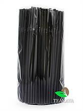 Трубочка для соку чорна (ПП), d5, 21 см, 200 шт