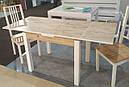 Стол обеденный Марсель 110(+35+35)*75  белый - Нордик Пайн, фото 4