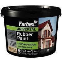 Farbex Краска резиновая универсальная Ярко-голубой 6 кг