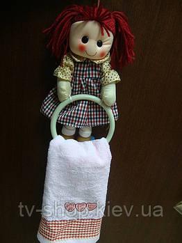 Детское полотенце с держателем Кукла  (5 видов)