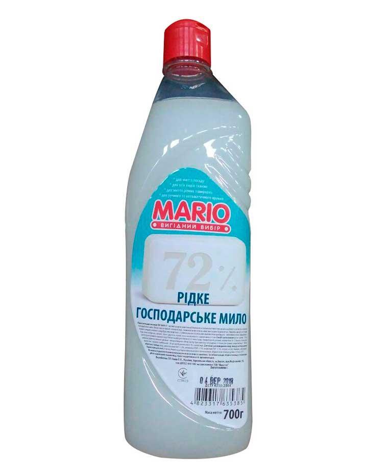 Жидкое хозяйственное мыло, 700 мл, Mario Марио