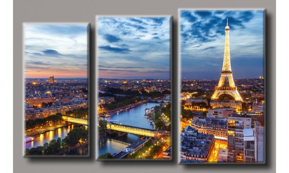 Модульная картина Эйфелева Башня-4 71х110 см (HAT-186)